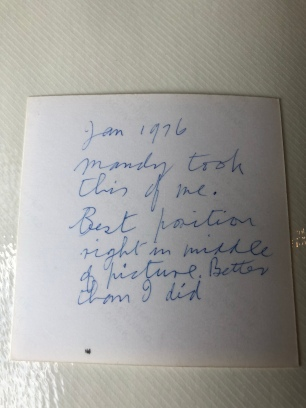 My grandmother's note