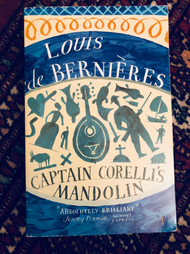A picture of the front cover of 'Captain Corelli's Mandolin'