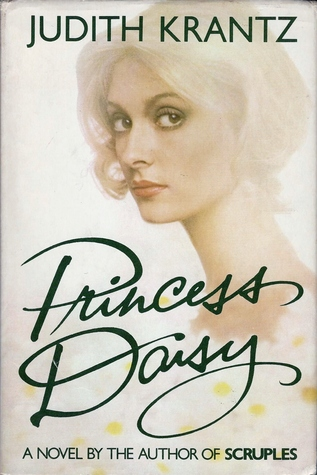 The cover of Princess Daisy from 1980's. A beautiful blonde woman with a very long neck gazes out at the reader. Daisys are scattered around the bottom.