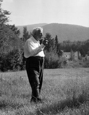 Robert Frost pipe on farm