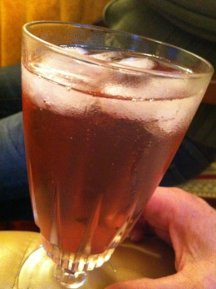 Original Singapore Sling - in a very bad glass!