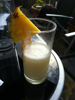 Pina Colada - in a nasty glass!